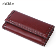 Muurdde 2019 New Women Wallets Genuine Leather High Quality Long Design Clutch Cowhide Wallet Fashion Female Purse