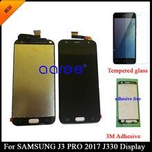 Adhésif + 100% testé pour Samsung J3 2017 J330 LCD pour J330F J330 écran LCD écran tactile numériseur assemblée, pas pour J327