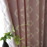 [byetee] Window Curtain Fabrics Bedroom Cotton Linen Jacquard Kitchen Blackout Curtains Doors For Living Room Room Drapes
