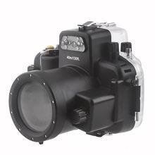 цена на Meikon 40M Waterproof Underwater Camera Housing Case Bag for Nikon D7000 Camera