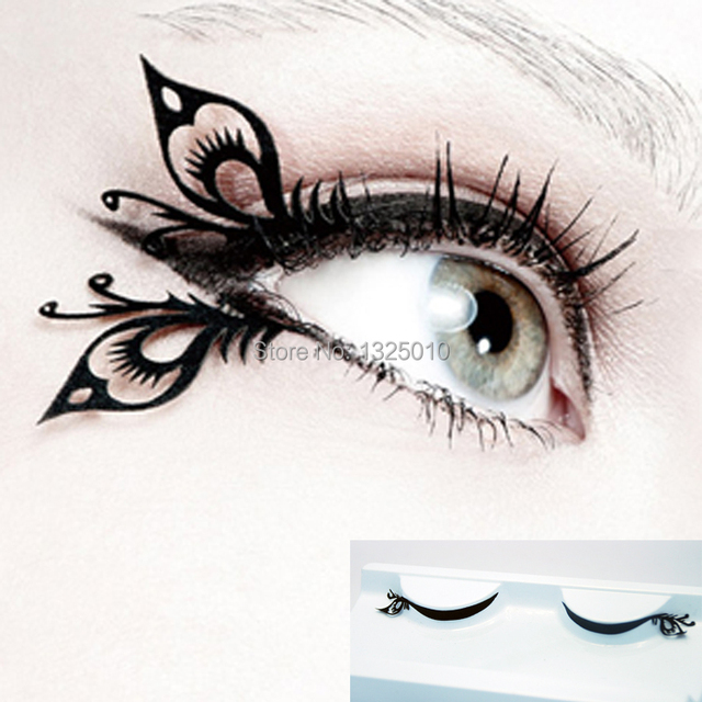 Amiri Paper Cut Black False Eyelashes Fresh Eye Tail Butterfly Az11