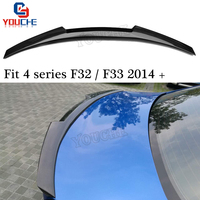 F32 F33 Rear Trunk Wing Spoiler Decoration For BMW 4 Series F32 Coupe F33 F83 M4 Convertible 2014 + M4 Style Spoiler