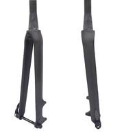 free shipping Carbon carbon fiber road bike fork 700C Rigid Tapered Thru Axle 12mm carbon forks 1 1/8 carbon road disc fork