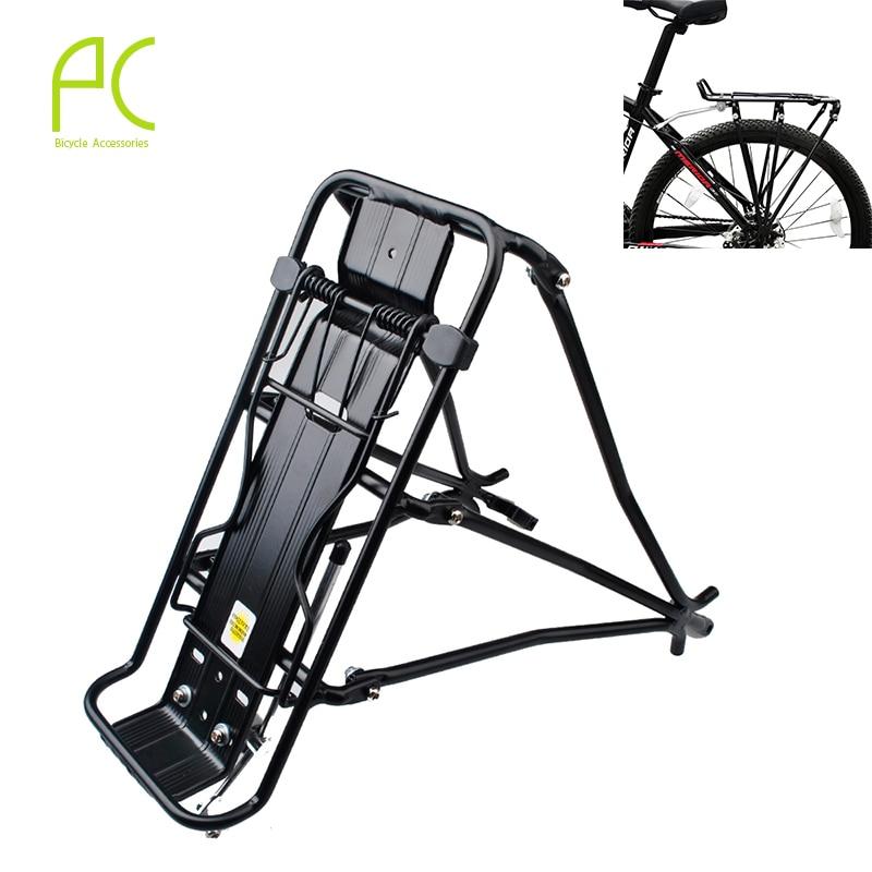 ФОТО PCycling 50kg Capacity Aluminum Alloy MTB Bike Bicycle Rack Carrier Rear Luggage Cycling Shelf Bracket for V-brake Bike Shelf