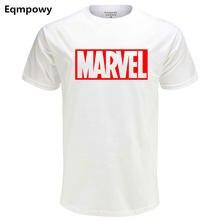 22f56d75e18d Eqmpowy Neue Mode Marvel Kurzarm T-shirt Männer Superhero print t-shirt O-ansatz  comic Marvel shirts tops männer kleidung T