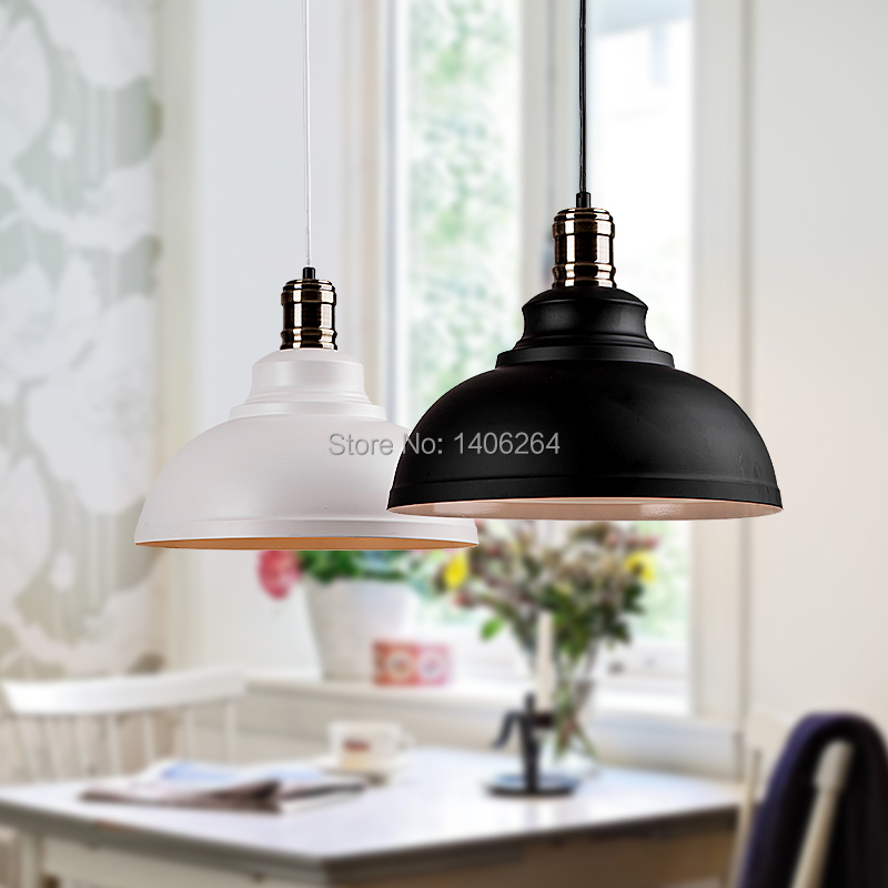 Industrial Elegant Black /White  Modern1 Light Pendant Lamp Cafe Bar Coffee Shop Hall Store Club Bedside vintage loft industrial edison flower glass ceiling lamp droplight pendant hotel hallway store club cafe beside coffee shop
