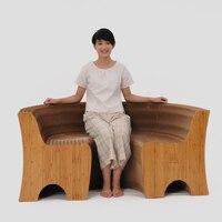 Спинка деформируемого диван креативный дизайн, мебель современной гостиной провинциальный пространство экологически чистые мебель