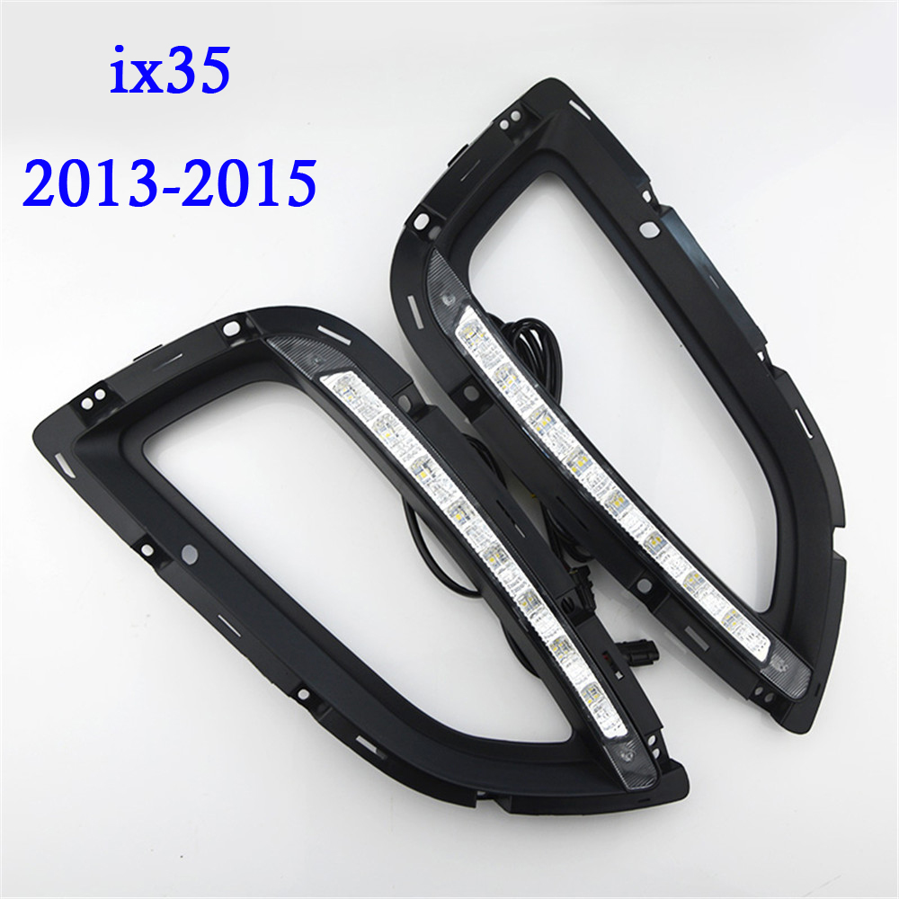 Car-styling High quality LED Daytime Running Light Bar Fog Lamp Bulb Daylight Light for Car led DRL HYUNDAI IX35 2013 2014 2015 1 pair daytime running lights drl daylight car white led drl fog head lamp cover car styling for subaru forester 2013 2014 2015