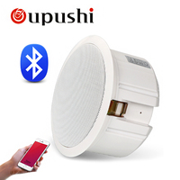 Oupushi BluetoothS Speaker 110V ABS Active Wall Speaker PA Sound System 6.5 Inch Ceiling Speaker Bluetooth 20W For Home Music