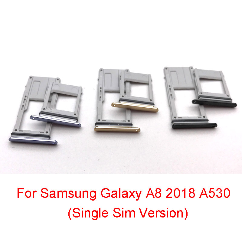 Sim Card Reard Holder Flex Cable For Samsung Galaxy A8 2018 A530 Single Sim Version