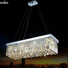 Rectangle Crystal Chandelier Light Fixturefor Dining Room Crystal Suspension Light MCP0510