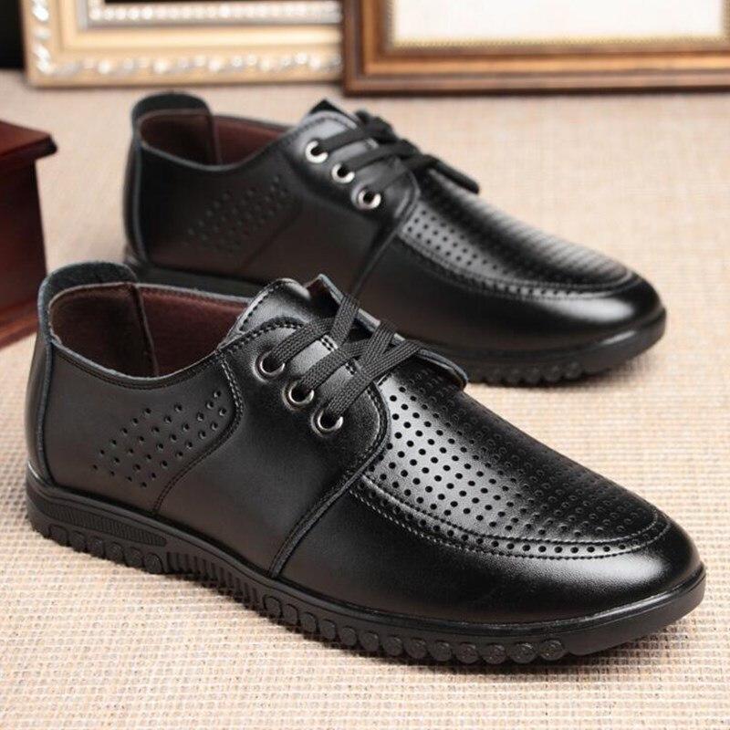 En Directe Mode Respirant brown Toute Style Oxford De Usine Souple Black Casual La Cuir Hommes Chaussures Saison g50xnYdq