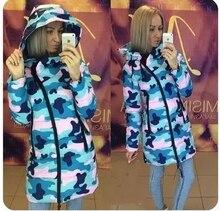 Женщины 2017 Новая Мода хлопка Пальто Зимой толстые Куртки Женщин Верхняя Одежда парки Длинные Куртки осень Пальто Femme clothing