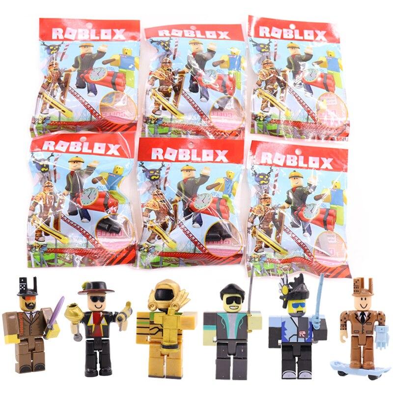 Hot 6pcs/set Roblox Figure Jugetes 7cm PVC Action Figures Roblox Game Toys For Children #E 12pcs set children kids toys gift mini figures toys little pet animal cat dog lps action figures