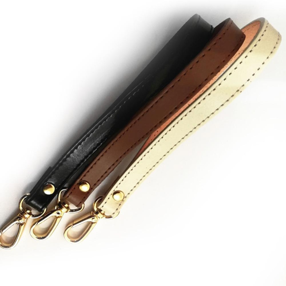 Women's Wallet Strap Genuine Leather Black Bag Strap Accessories Leather Wrist Strap Clutch Bag Small Bagpack Strap