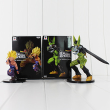 2pcs/Lot 2018 Showcase Dragon Ball Z Gohan & Cell Banpresto Dramatic PVC Action Figure Toy Collectible Model Doll for Children