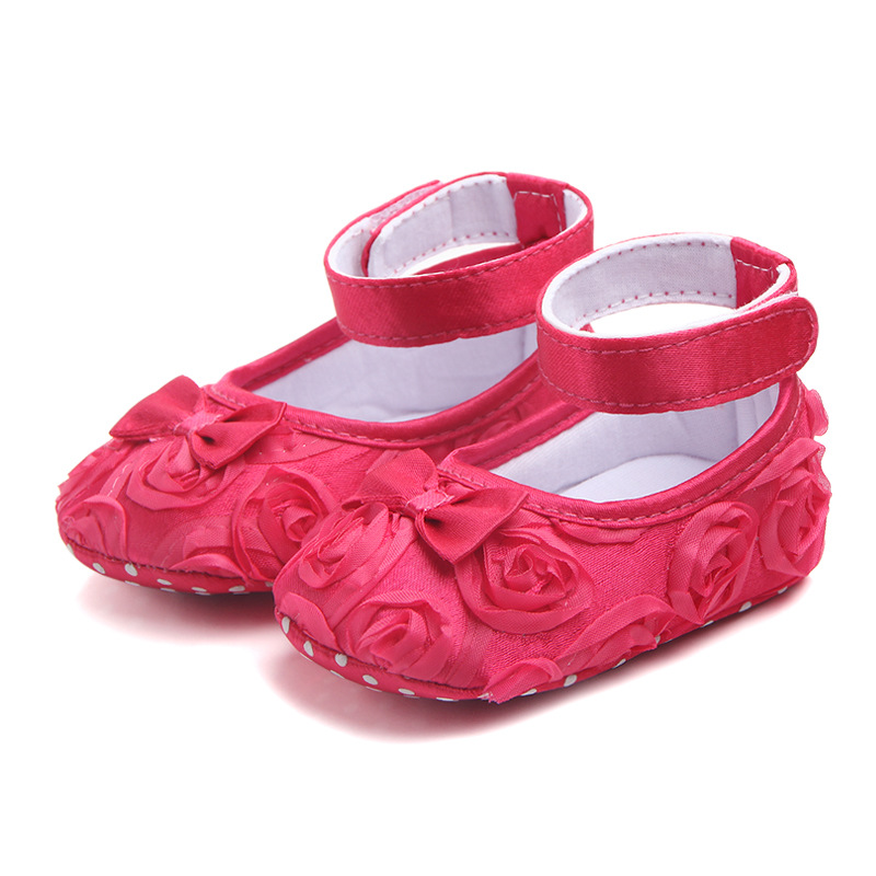 2020 Newborn Baby Girls Kid Prewalker Lovely Bow Infant Toddler Princess First Walkers Soft Soled Shoe Floral Shoes Footwear