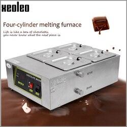 XEOLEO Chocolate melting machine Chocolate tempering machine  Holding furnace Chocolate melter stove 4 tanks Heating hot fondue