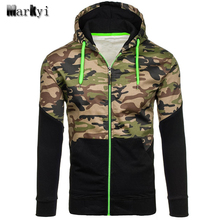 MarKyi 2017 new camouflage sweatshirt men good quality EU size 2xl long sleeve tracksuit men patched hoodies