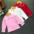 Menina Roupa do bebê Camisa Outono Inverno Algodão de Lã Quente de Manga Longa Top Roupas Da Menina Da Criança Crianças kawaii Pulôveres t-shirt