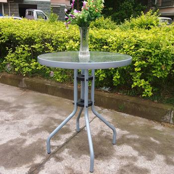 60cm stoły zewnętrzne taras na dziedzińcu stół na co dzień okrągłe stoły do jadalni tanie i dobre opinie Meble do domu Jadalnia meble pokojowe Metal iron Nowoczesne 60*60*70cm T219A Szkło Pure color ROUND NoEnName_Null Tempered glass+Iron