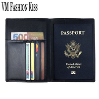 Goods In RFID Antimagnetic Genuine Leather Passport Basis Set Passport Basis A Cover Cowhide Passport Mix