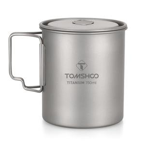 Image 1 - TOMSHOO 750ml Ultralight titanyum fincan tencere açık taşınabilir su bardağı kupa sofra tencere titanyum Pot kamp piknik