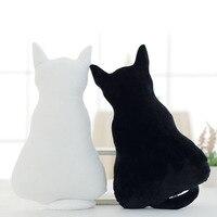 1PCS 35 45cm Super Cute Soft Plush Back Shadow Cat Seat Sofa Pillow Cushion Stuffed Cartoon
