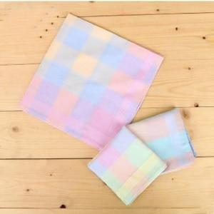 Image 5 - Freeshipping 12pcs 43cm * 43cm color cotton handkerchief Women Men