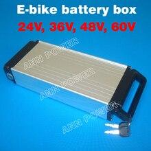 ¡Envío gratis! Caja de batería de litio para bicicleta eléctrica, 24V, 36V, 48V, no incluye la batería