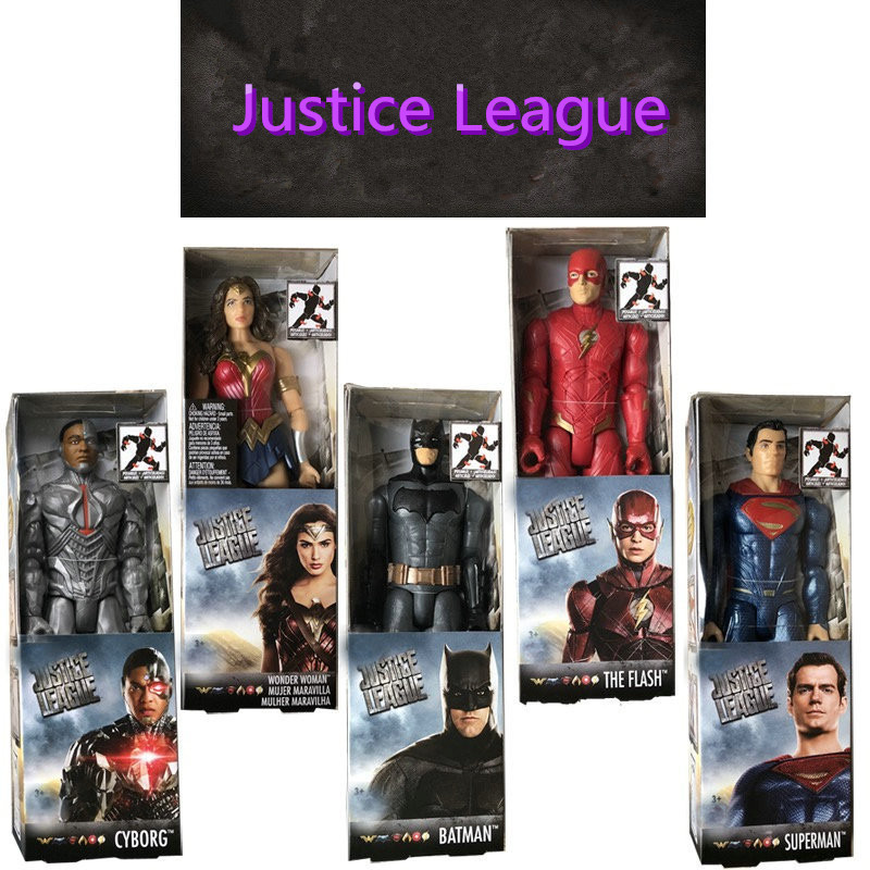 Avengers:Infinity War Superman Superhero Batman Wonder Woman Justice League The Flash Action Figure DC Comics Model Toy L1408 набор фигурок dc comics batman wonder woman superman 3 в 1 17 см