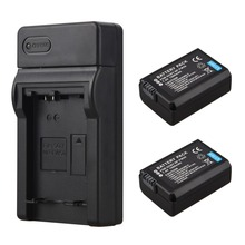 2x 1500mAh NP-FW50 NP FW50 NPFW50 Battery + USB Charger For Sony Alpha 7 a7 7R a7R 7S a7S a3000 a5000 a6000 NEX-5N 5C A55