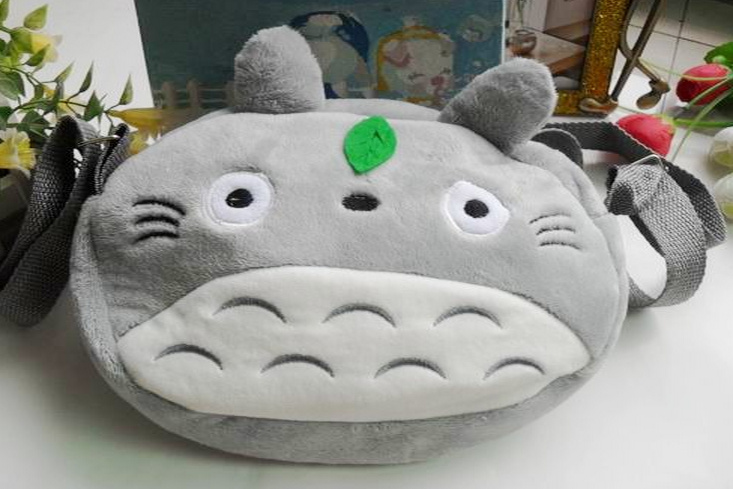 Kawaii-TOTORO-KID-Satchel-BAG-Plush-Children-Kids-Satchel-Messenger-BAG-Plush-Backpack-BAG-Pouch-2216CM-Double-Zippers-4