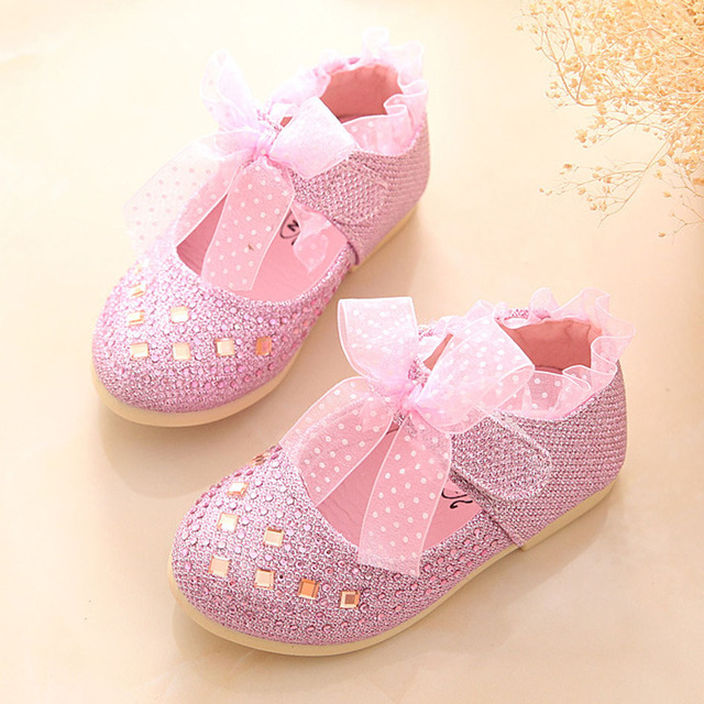 2017 Baby Girls First Walker Shoes Crystal Baby Shoes For Wedding Fancy Toddlers Girls Party Shoes Kids Princess Shoes