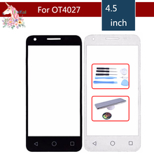 4.5 For Alcatel One Touch Pixi 3 4027D 4027X 5017 5017E VF795 OT4027 4027 Smart Speed 6 Front Outer Glass Lens Touch NO Flex euroline для alcatel one touch pixi 3 4 5 4027d green