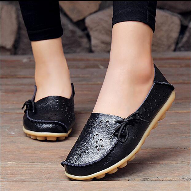 Flats Holgazanes 14 Genuino De Mujeres 13 on 11 2 9 17 7 Recortes 4 Zapatos Conducción 5 16 1 Slip Madre 3 10 Calzado 2017 Cuero 15 6 12 8 Mujer pwYzwIq