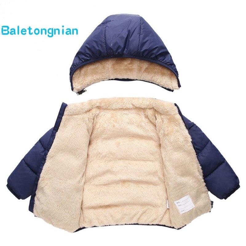 Bébé enfant fille garçon hiver solide à capuche manteau manteau veste chaude épaisse Chiffon