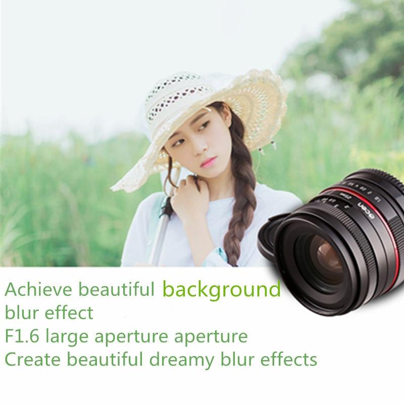 35MM F1.6 small wide angle manual apsc camera lens for Olympus Panasonic M43 MFT EP5 OMD EM5 free shipping