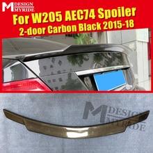 W205 Spoiler AEC74 Style Carbon Tail Fits For Mercedes Benz C-Class W205 C63 C180 C230 C250 2-Door Rear Trunk Spioler 2015-2018 цены онлайн