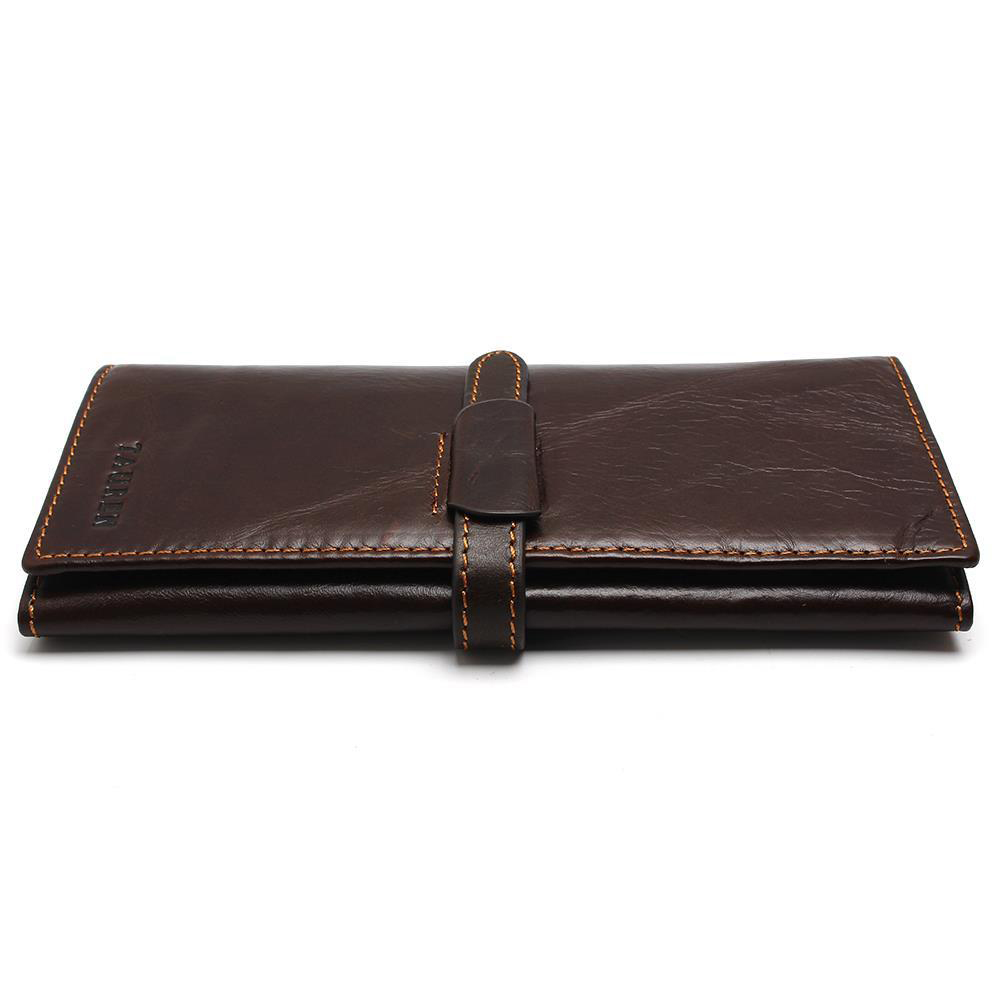 New Luxury Brand 100% Top Genuine Cowhide Leather High Quality Men Long Wallet Coin Purse Vintage Designer Male Carteira Wallets baellerry small mens wallets vintage dull polish short dollar price male cards purse mini leather men wallet carteira masculina