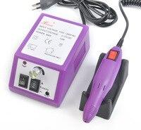 סגול Pro נייל חשמלי מקדחת מכונת אמנות ציוד מניקור קבצי פדיקור מניקור חשמלי מקדחה ואבזרים