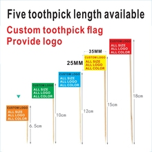 Custom logo Toothpick flags 3.5X2.5CM A variety of toothpick length can be selected. Fruit ornaments