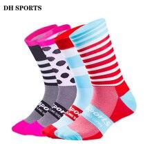DH спортивные высококачественные профессиональные велосипедные носки для мужчин и женщин, носки для шоссейного велосипеда, брендовые Компрессионные спортивные носки для гонок на велосипеде