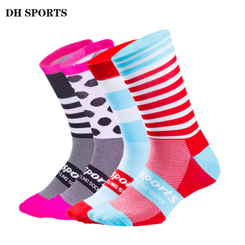 DH SPORTS High Quality Professional Cycling Socks Men Women Road Bicycle Socks Outdoor Brand Racing Bike Compression Sport Socks
