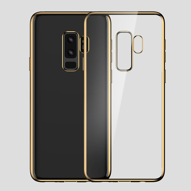 save off d0a66 3bb26 US $9.35 |Crystal Transparent TPU case cover for Samsung Galaxy S9 S9 Plus  Plating with 3D laser engraving Ultra Thin phone cases conque-in ...