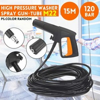 15M M22 High Pressure Washer Spray Gun Cleaning Quickly 120bar Tube For Karcher