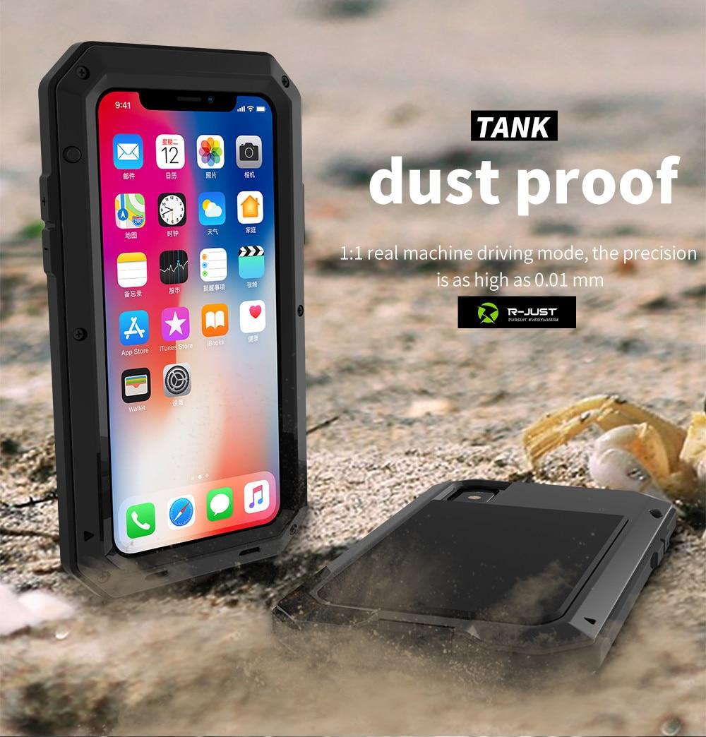 HTB1g1HUeTlYBeNjSszcq6zwhFXag Heavy Duty Protection Doom armor Metal Aluminum phone Case for iPhone 11 Pro Max XR XS MAX 6 6S 7 8 Plus X 5S 5 Shockproof Cover