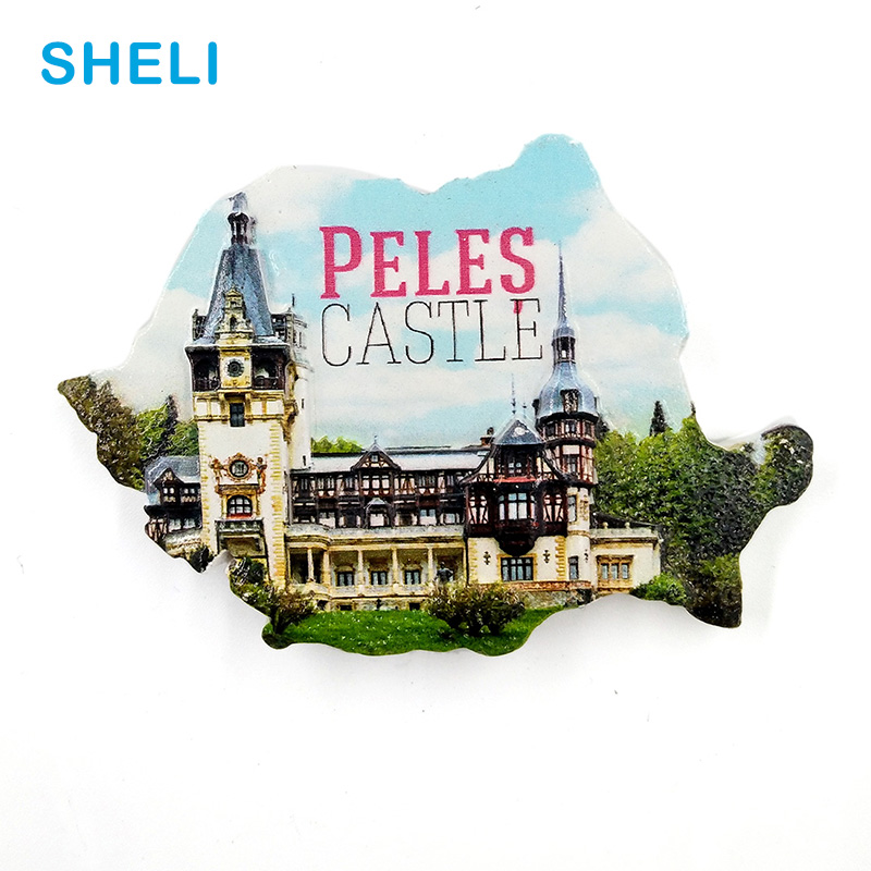 Romania Travel Souvenir Scenery Peles Castle 3D High-end Resin Fridge Magnets Gift Refrigerator Magnetic Sticker Home Decoration