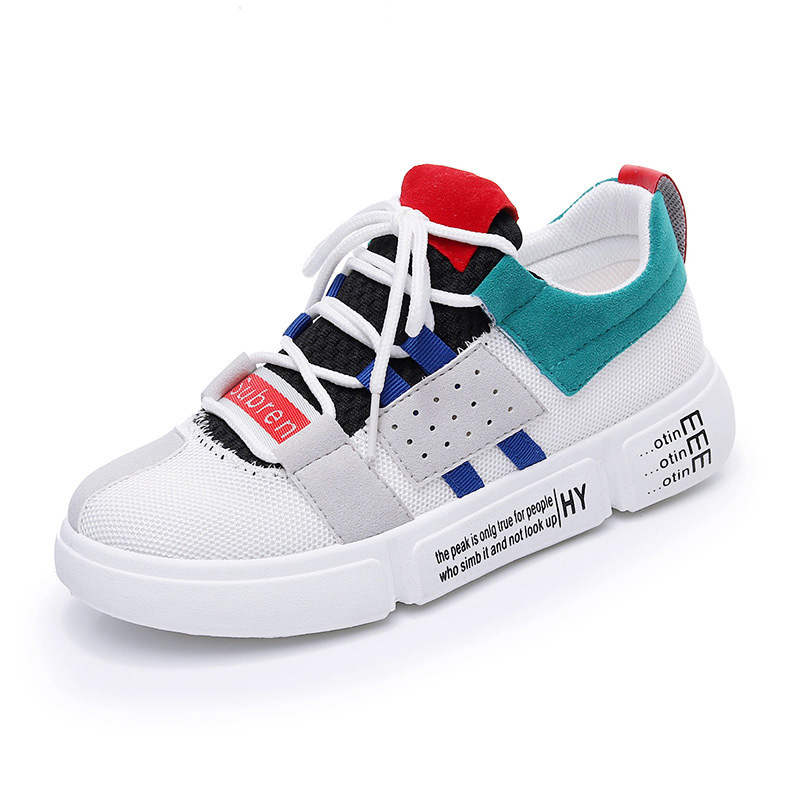 Women Vulcanized Shoes Fashion White Sneakers Chunky Casual Shoes Ladies Breathable Lace Up Shoes Flat Platform Sneakers smile circle spring autumn women shoes casual sneakers for women fashion lace up flat platform shoes thick bottom sneakers