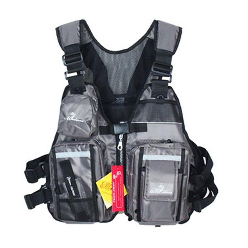 Outdoor Fishing Life Vest Jacket Water Sports Floatation Vest Professional drifting level suit Fishing Floating Clothing